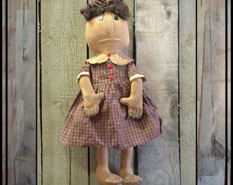 SALE mailed paper pattern Primitive folk art rag doll stitched fingers and toes  HAFAIR OFG faap 292