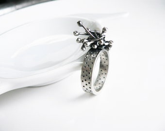 Contemporary rings, contemporary jewelry, Contemporary design ring, Ring Size 9, Statement Ring, Contemporary Silver Ring, Unusual Jewelry