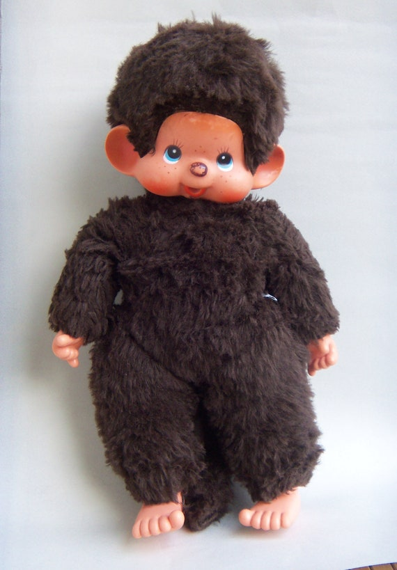 Rare Huge Monchichi Toy Land Israel Large Monchhichi Thumb Sucking Authentic TagRare Huge Monchichi Toy Land Israel Large Monchhichi Thumb Sucking Authentic Tag
