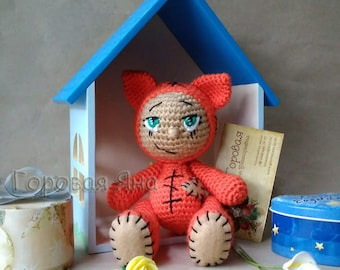 Cunning little fox-crocheted crochet
