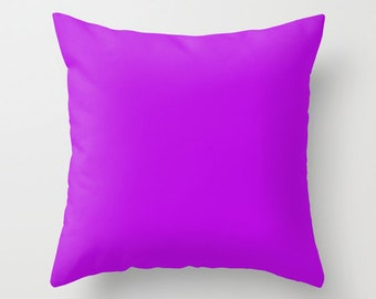 Vivid Mulberry Pillow, #B80CE3, Solid Purple Throw Pillow, Solid Purple Pillow, Modern Pillow, Minimalist Decor, Minimalist Pillow