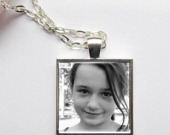 Photo Necklace, Custom Photo Jewelry, Photo Pendant, Personalized Keepsake Jewelry