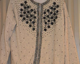 Vintage Wool Sequined Sweater