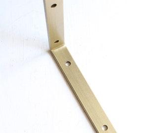 Brass Angle Bracket, Gold Shelf Bracket, Modern Shelving