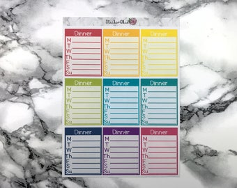 Dinner Boxes Planner Stickers FB001