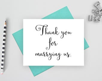Thank you for marrying us, wedding stationery, wedding stationary, wedding thank you, folded wedding cards, wedding note cards, wedding card