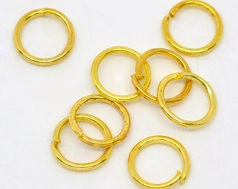 200 - 6mm Gold Plated Jump Rings