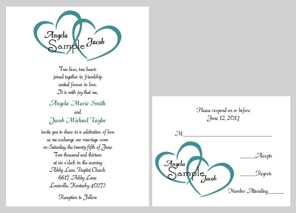 100 Personalized Custom Names Heart Bridal Wedding Ceremony