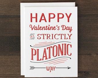 Funny Valentine's Day Card Platonic friend