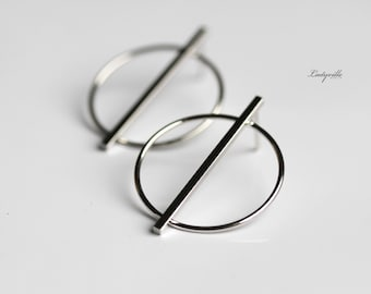 Stud Earrings large in Scandinavian Style