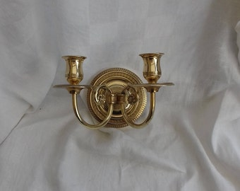Chandelier brass wall light circa 1920
