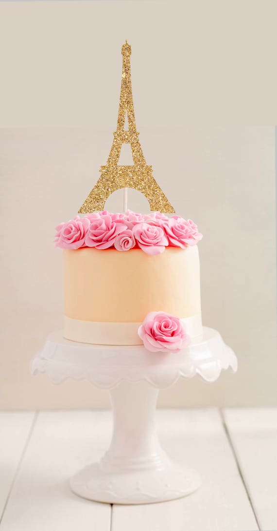 Paris Birthday Cake Topper