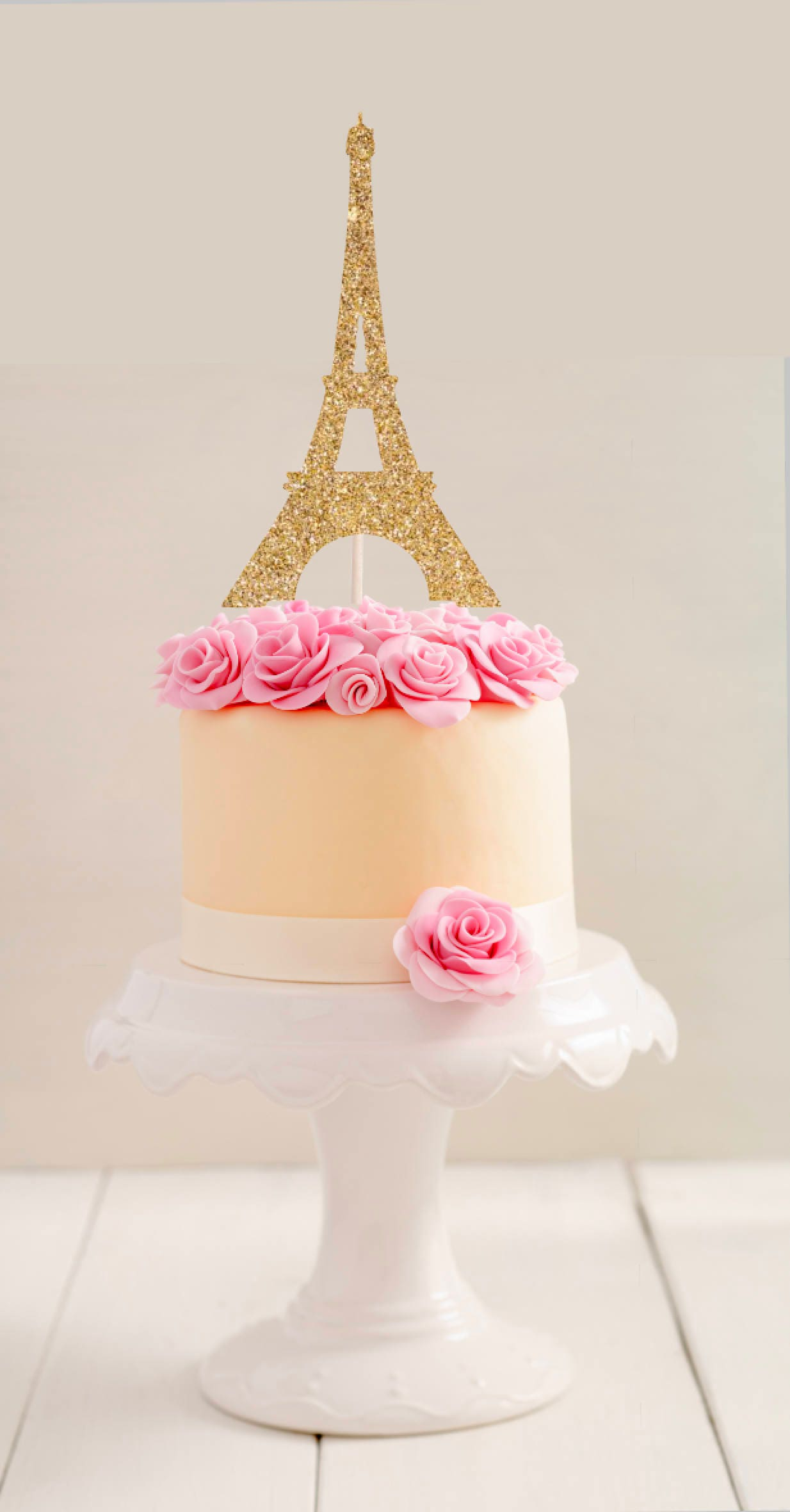 I Need Ideas For Decorating My Living Room: Eiffel Tower Cake Topper L Paris Cake Topper L Party Cake