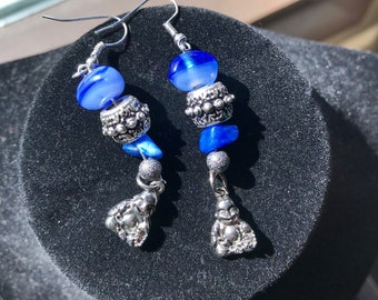 Blue Buddha Earrings