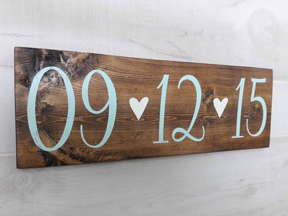 Wedding save the date wood sign woodsy rustic wedding date