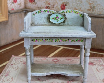 NOVELTY OOAK Toilet table or auxiliary 1:12 dollhouse, furniture in miniature.