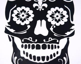 Sugar Skull Vinyl Decal
