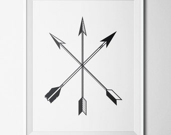 Wall Art, Digital Prints, Arrow Wall Art, Downloadable Art, Wall Prints, Black and White Decor, Arrow Art, Digital Art, Arrow Prints