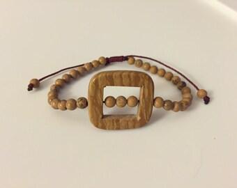 Tigerskin Jasper and Grainstone bracelet