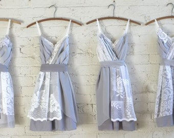 Custom Grey Bridesmaids Dresses