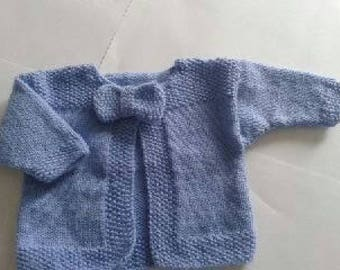 Cardigan or vest baby - birth-01 months by order