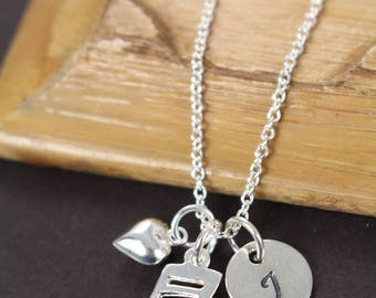 Music Note Necklace , Music Lover Gift , Music Teacher Gift 925 Sterling Silver Jewelry