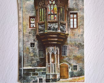 Antique Sebalder Parsonage Nuremberg Postcard --- Vintage 1910's German Mail Souvenir --- Historical Home Decor Old World Charm Germany