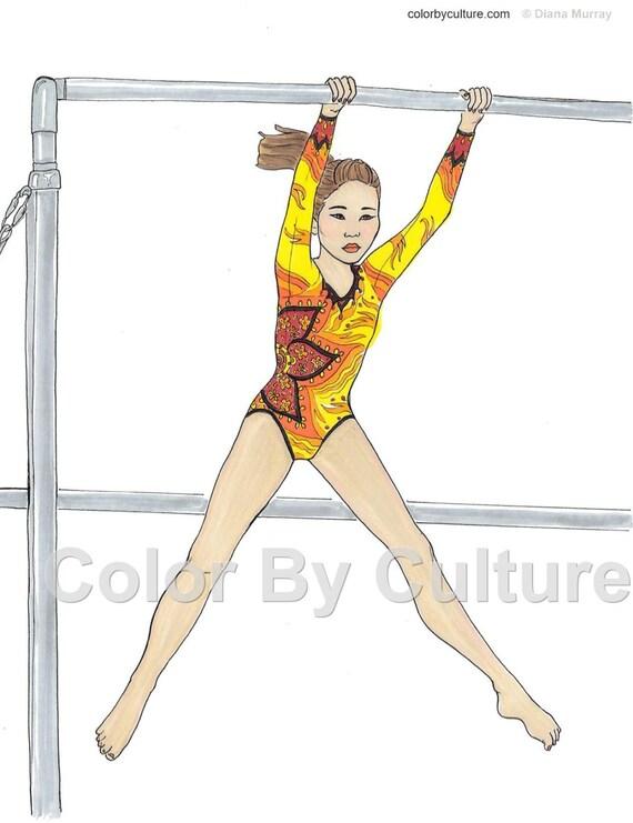 Gymnastics Coloring Book Fashion