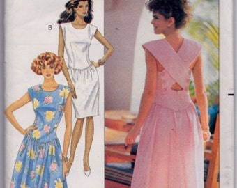 Butterick 4083, Size 12-14-16, Misses' Dress Pattern, UNCUT, Sundress, Kathryn Conover, Casual, Chic, Vintage 1989, Mid Knee or Lower Calf