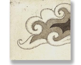 Cloud, etching engraving / etching