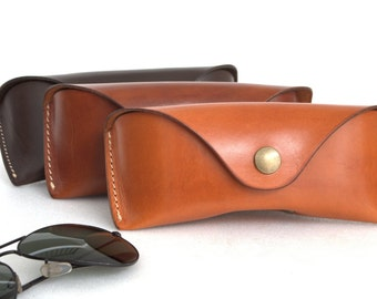 Glasses case for Aviators÷Wayfarers vegetable tanned leather sunglasses case eyeglass case