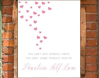 Body Acceptance Self Love Art Print Printable Wall Decor INSTANT DOWNLOAD