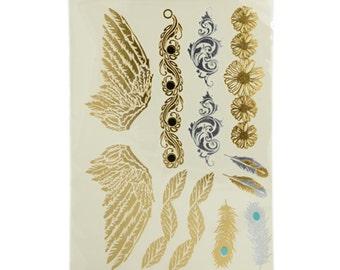 Gold Foil Tattoo Sheet