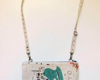 Tokyo City Map Canvas Crossbody Bags Fabric Crossbody Bag Crossbody Purse Shoulder Bag Women Gifts under 50 Gifts for Her