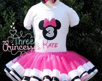 Minnie Mouse Wavy Ribbon Tutu Birthday
