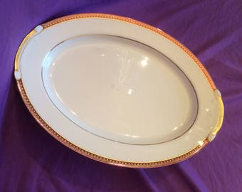 Oval Serving Platter in Chilton by Fashion Manor Fine China