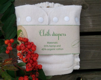"""Hemp, organic cotton cloth diaper / cloth nappy by """"Responsible mother"""" Lithuanian hand made"""