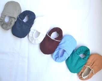 solid colors baby shoes solid color booties plain baby moccasins toddler shoes toddler slippers coming home baby outfit prewalker shoes