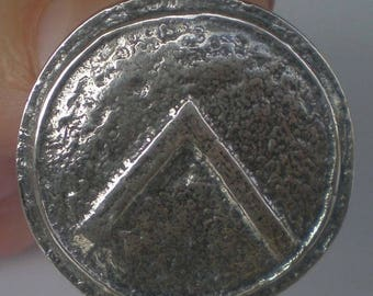 For Sale Spartan Shield Silver Pendant - King Leonidas - Ancient Greece - Sparta