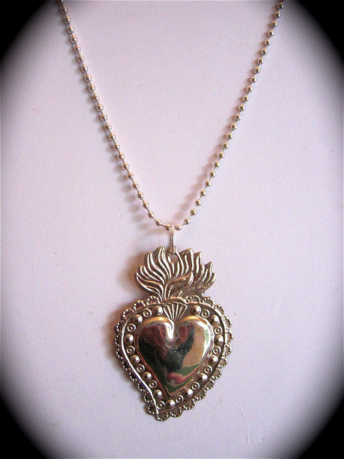 Intricate 25 sacred heart milagro pendant and 24 zoom aloadofball Images