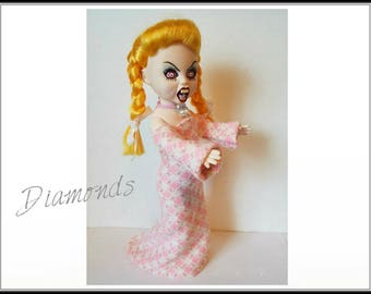 Living Dead Doll Clothes - DIAMONDS - Gown and Necklace - Handmade Custom Fashion by dolls4emma