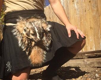 Full Mask sporran badger traditional scottish kilt accessory