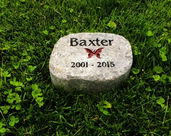 Remembrance Stones Garden Memorial stone etsy personalized pet memorial stone customize text and images the way you want thick quality concrete workwithnaturefo