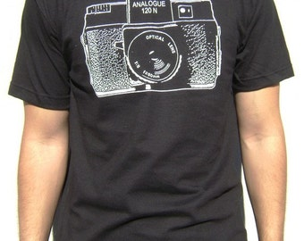 Holga Camera Shirt. Printed on Ultra Soft Ringspun Cotton