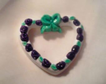 Mini green and purple - heart 9 013 frame
