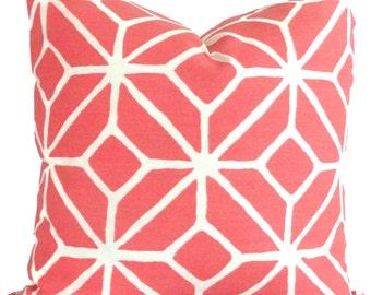 Trina Turk Watermelon Trellis Indoor Outdoor Pillow Cover, Schumacher, 18x18, 20x20, 22x22 or 14x20