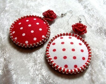 Earrings Lolita, creative, unique, separated