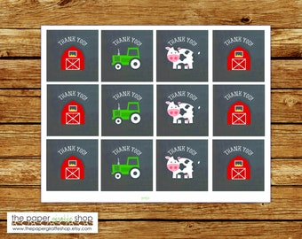 Farm Favor Tags | Farm Party | Farm Birthday Party | Farm Birthday Party Favor Tags Printable | Instant Download