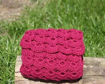 Fuchsia Crochet Scarf, Pink Scarf, Pink Womens Scarf, Crochet Scarf, Pink Crochet Scarf, Winter Scarf, Pink Winter Scarf, Bright Scarf
