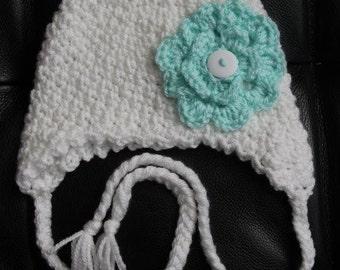 0-6 months flower hat